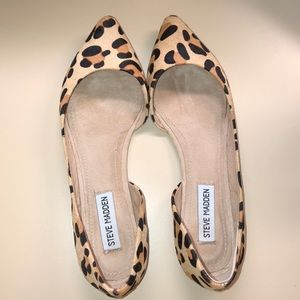 NEW Steve Madden leopard pointed flats